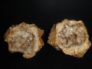 Geoda de cuarzo, Laño, Treviño, Burgos, 4 cm