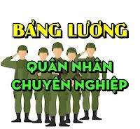 Bảng lương quân nhân chuyên nghiệp quân đội
