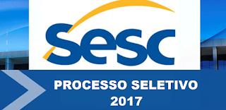inscrições processo seletivo sesc