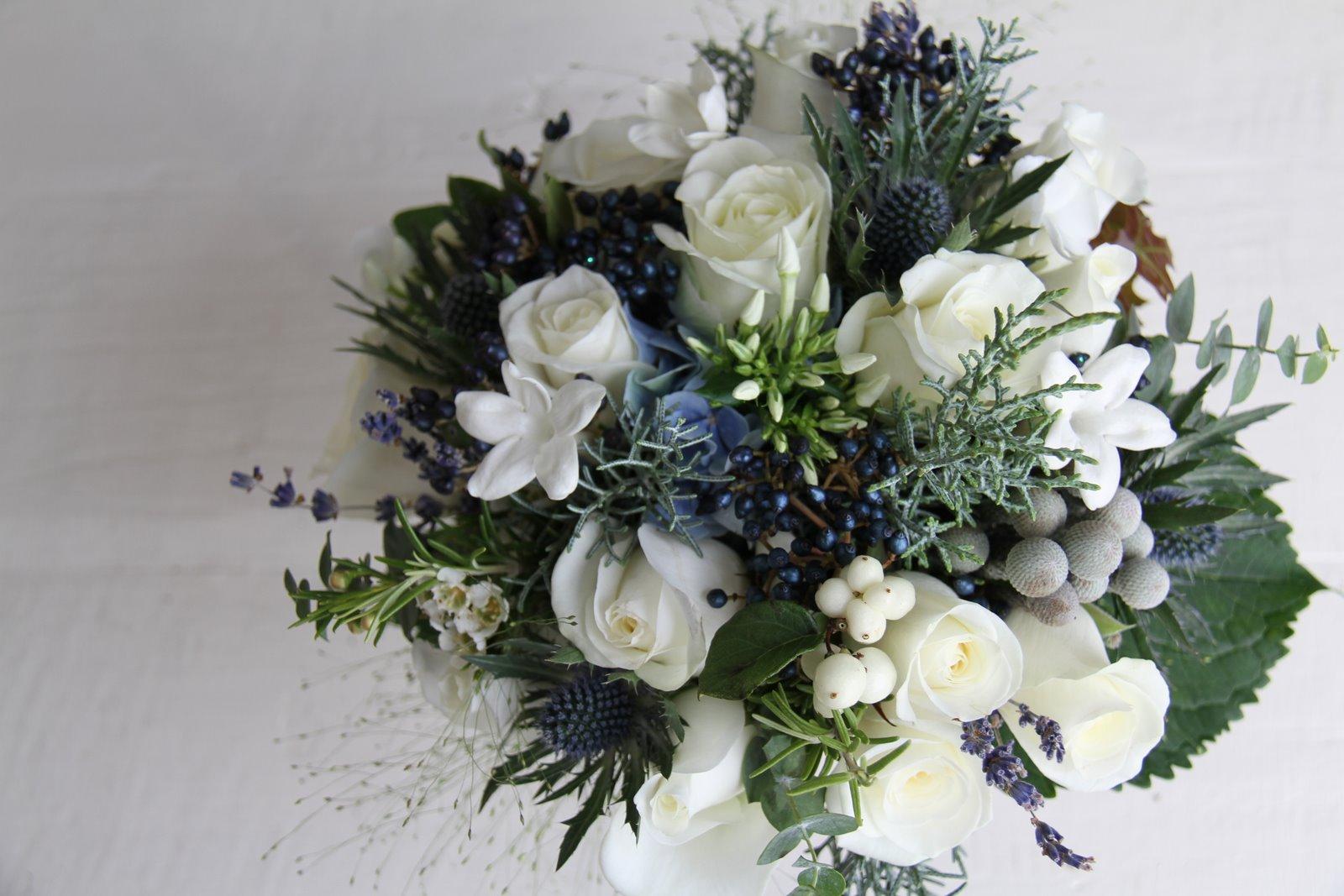 The Flower Magician: Winter Frost Wedding Bouquet