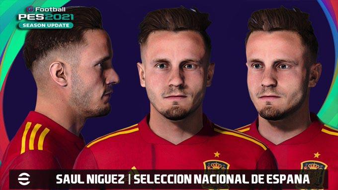Saúl Ñíguez Face From FIFA 21 For eFootball PES 2021