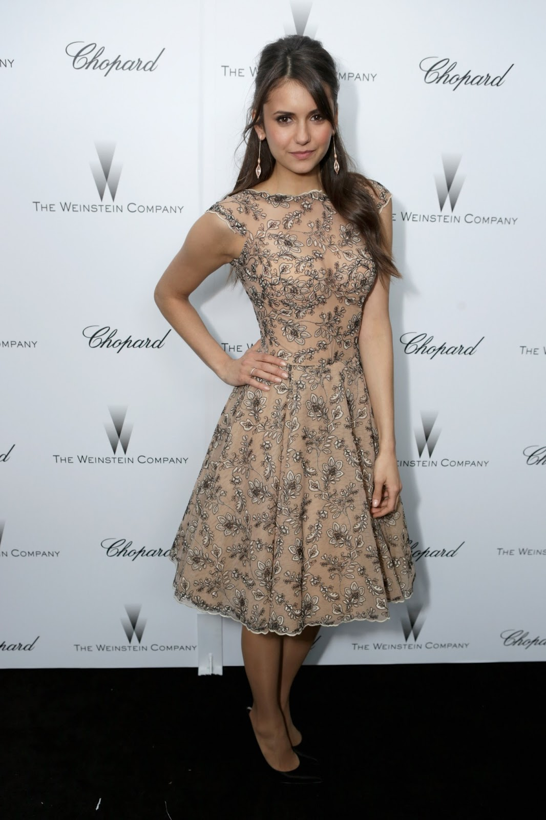 Red Carpet Dresses: Nina Dobrev - The Weinstein Co. Pre ...
