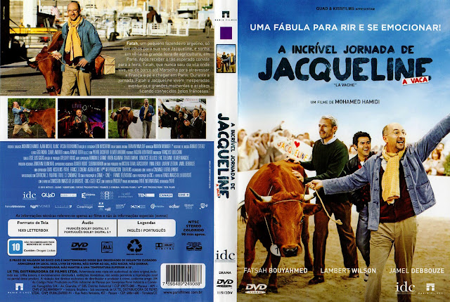 Capa DVD A Incrível Jornada de Jacqueline, A Vaca