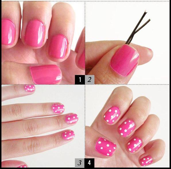 Nail Art Designs: Easy Nail Designs For Short Nails Step