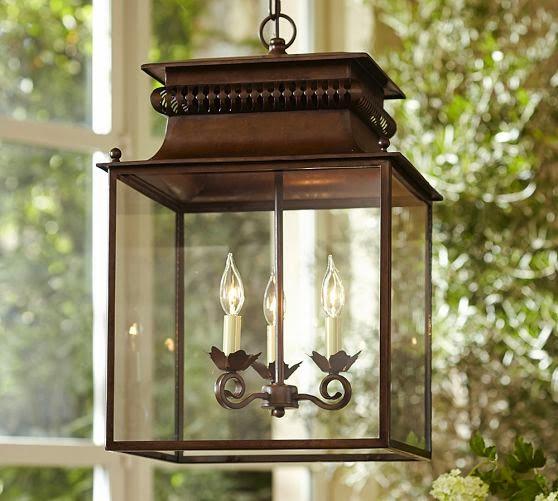 Pottery Barn Carriage Lamp: The Houston House: Lantern Pendant Lighting