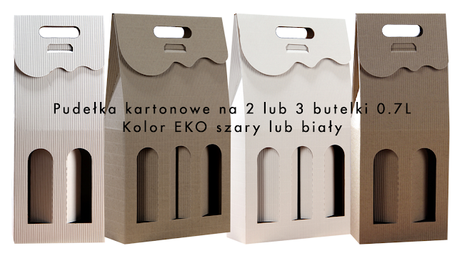 Pudełka kartonowe na 2 lub 3 butelki 0.7L