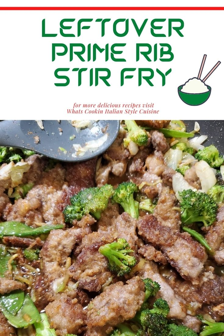 this is a pin for later stir fry using leftover prime rib