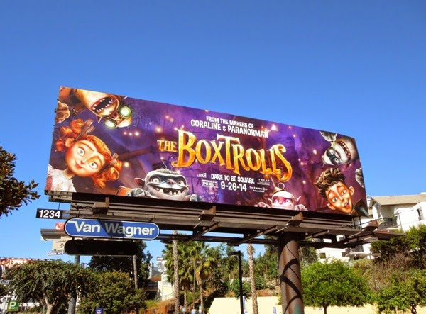 The Boxtrolls movie billboard