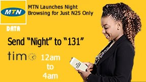 MTN Night Plan: Get 250MB For N25 And 500MB For N50
