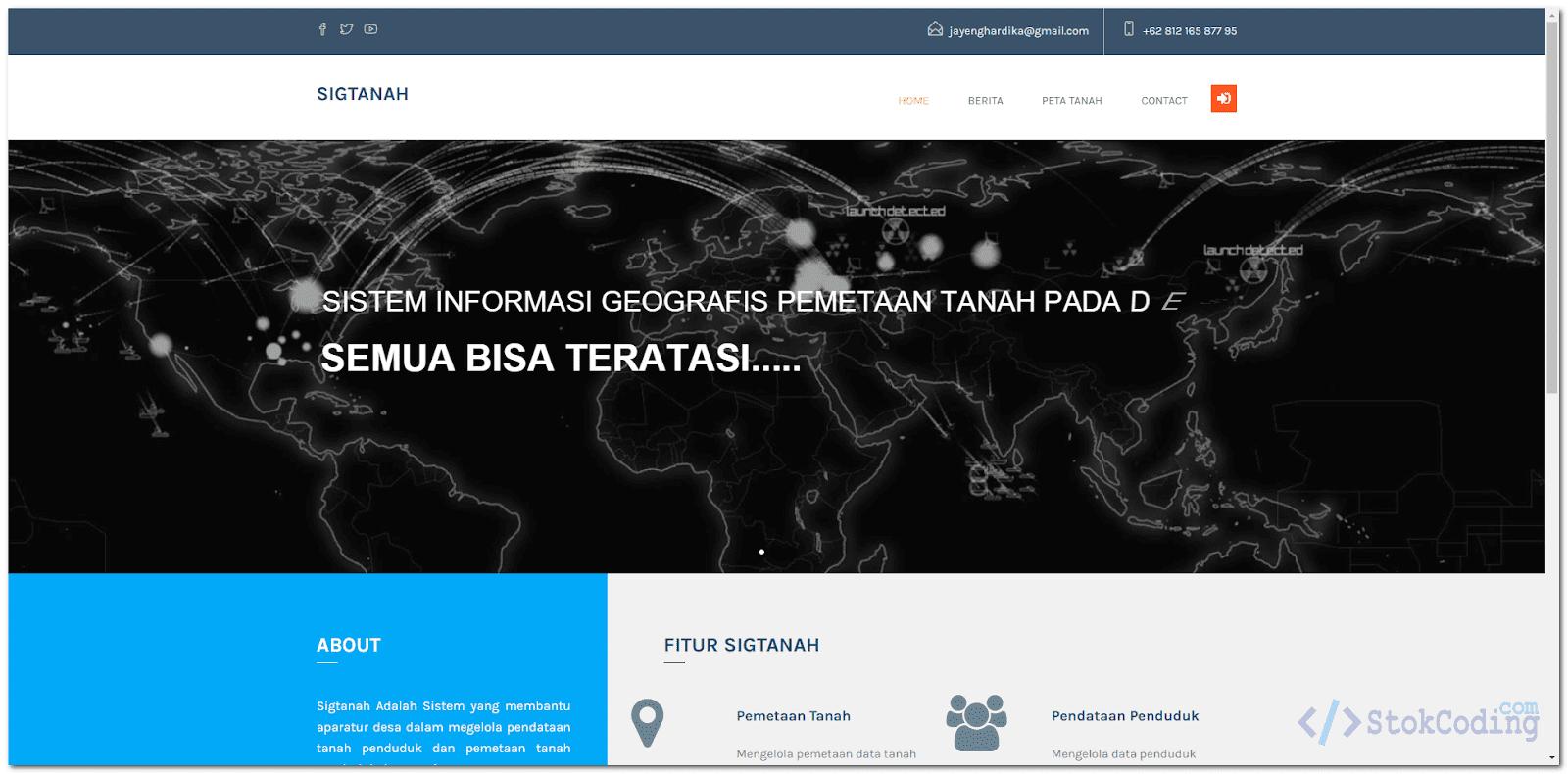 Sistem Informasi Geografis Pemetaan Tanah (Codeigniter)