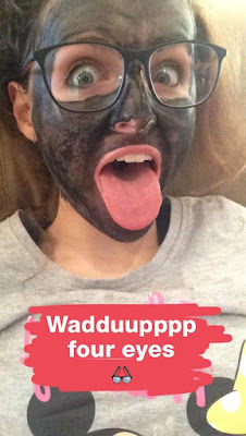 Charcoal Face Mask Whilst Reading