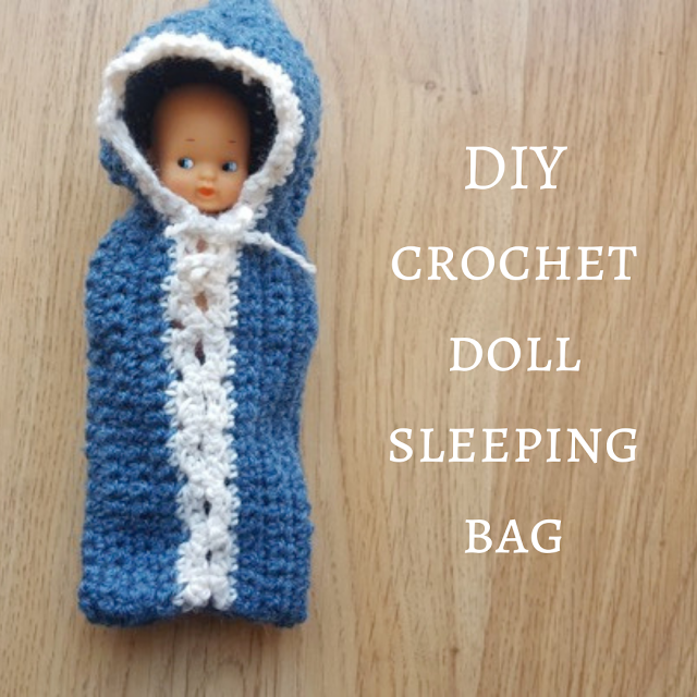 DIY crochet doll sleeping bag