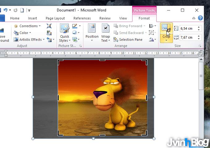 Cách cắt ảnh / crop ảnh trong Word 2007, 2010, 2013