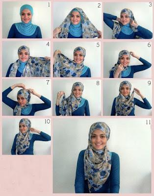Gambar Tutorial Jilbab Segi Tiga