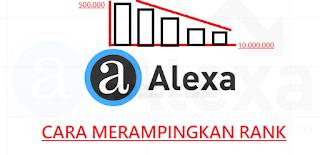 cara menurunkan alexa rank dengan cepat 2019
