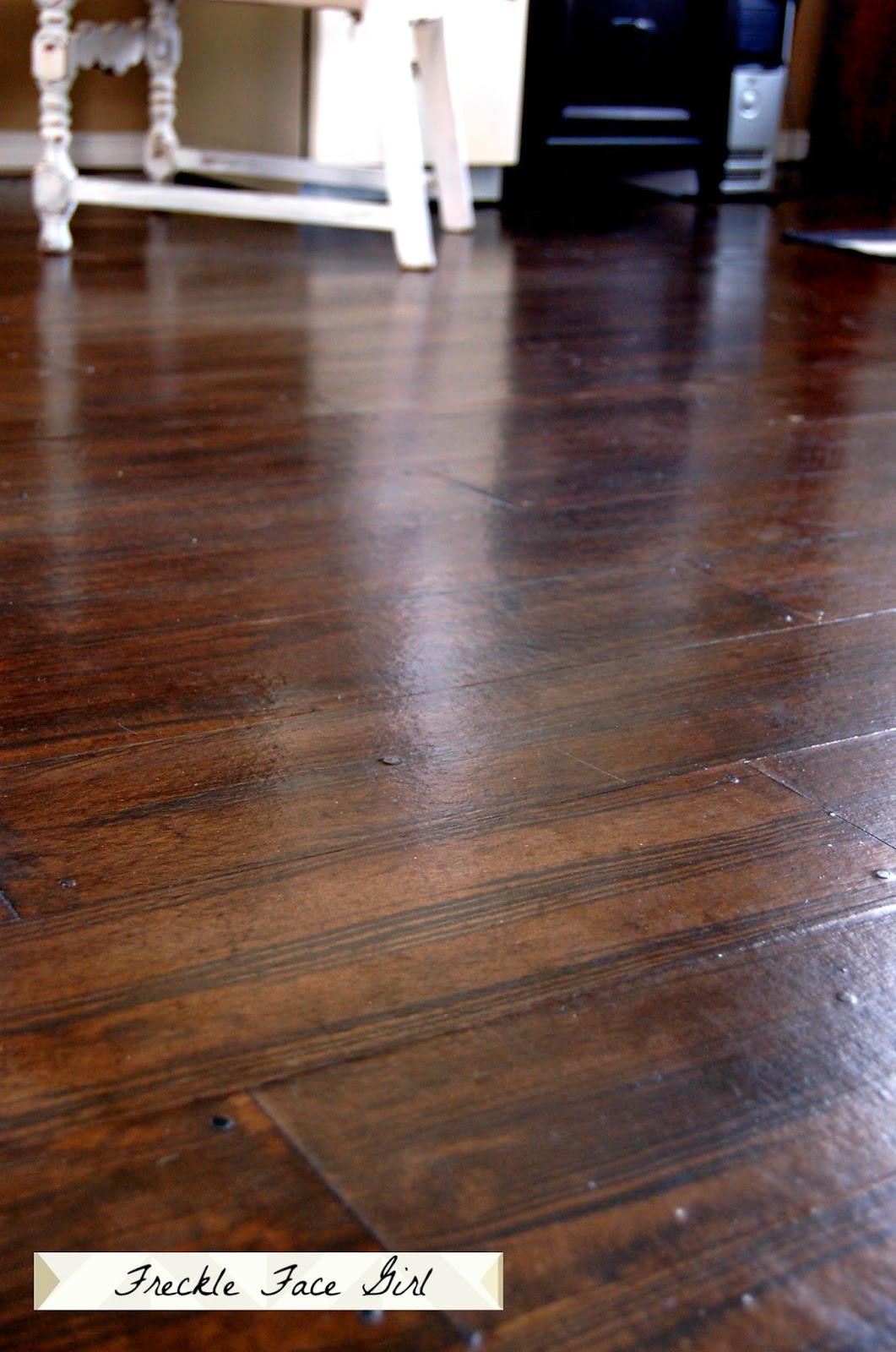 Freckle Face Girl Reclaimed Wood Floor Paper Flooring