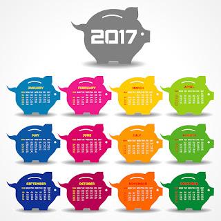 2017カレンダー無料テンプレート235