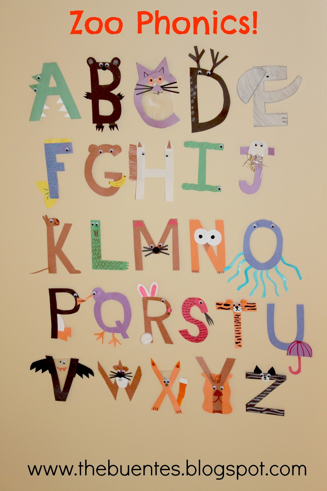 The Buente Family Zoo Phonics
