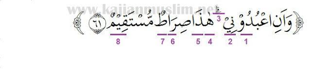 Hukum Tajwid Surat Yasin Ayat 61