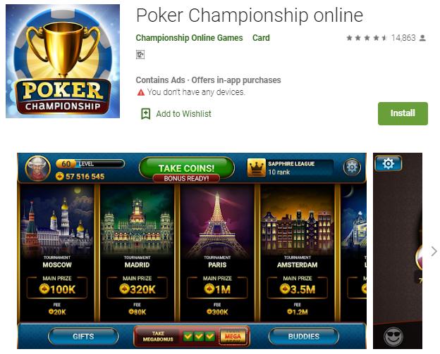 Game Poker Championship Online Paling Populer