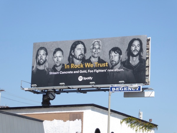 Foo Fighters Concrete Gold Spotify billboard