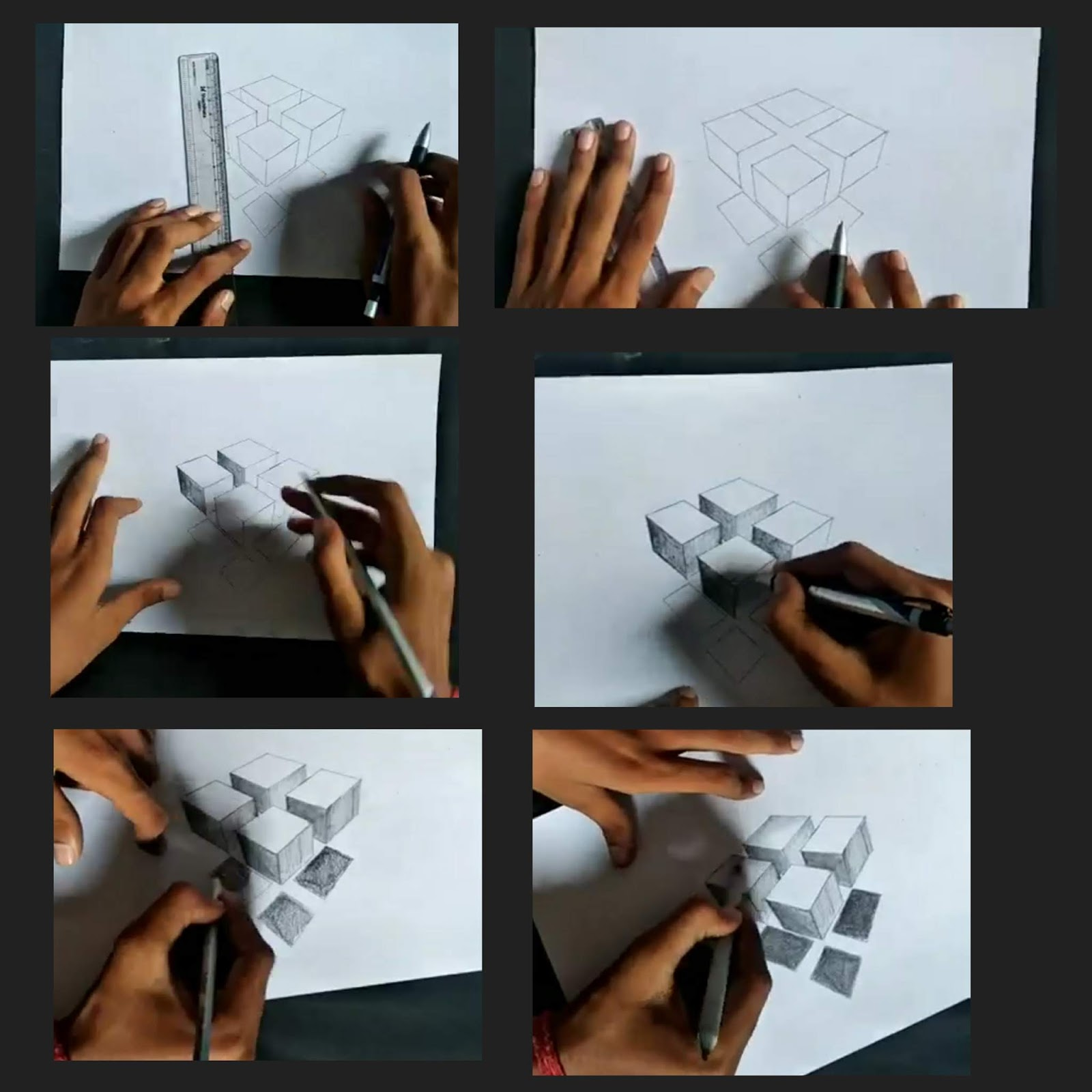 Artofrohit com: How to 3d floating squares shape boxes on