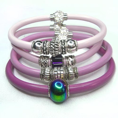 New colours! Glitzy and colourful. New resin bangles in the Jewellery Shop.