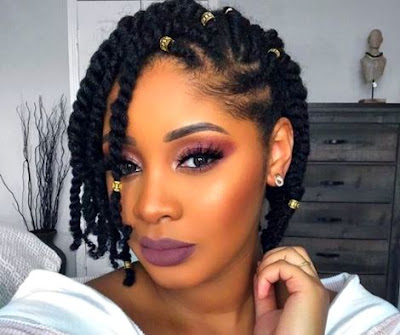Short Natural Hairstyle - short Afro