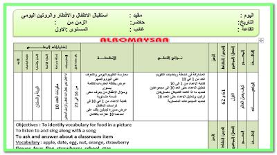 تحضير المستوى الاول خطة 3 ايام من السبت 13 مارس الى الخميس 18 مارس
