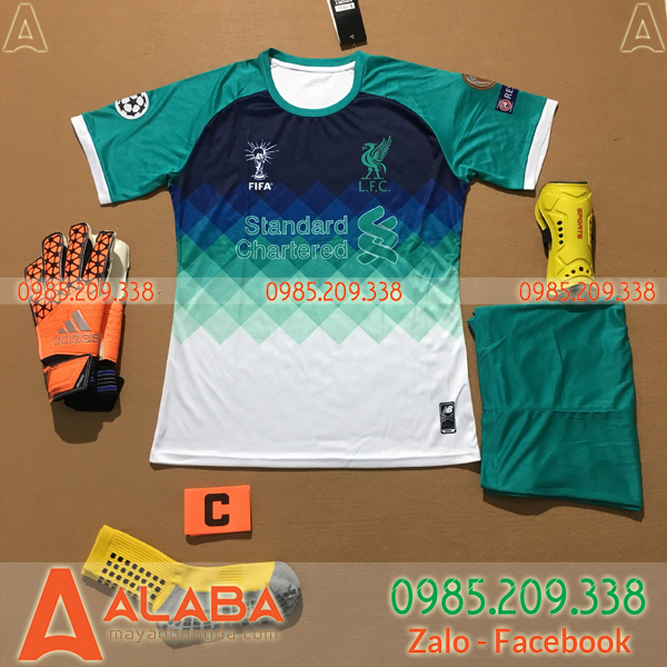 Áo Liverpool 2020 Training 11 Màu Xanh Ngọc