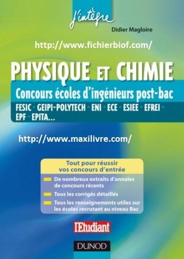 Physique et chimie : Concours écoles d'ingénieurs post-bac