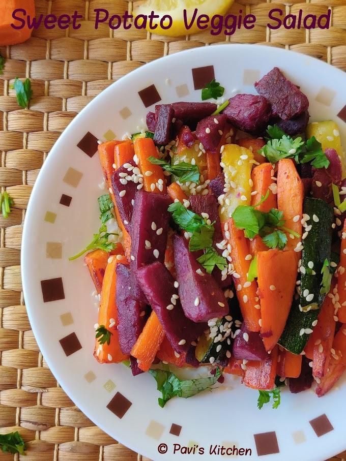 Sweet potato Indian recipe | sweet potato salad | grilled salad