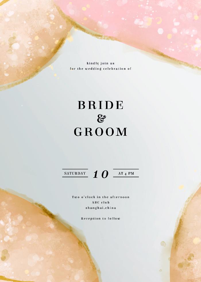 Modern Exquisite Watercolor Art Wedding Invitation