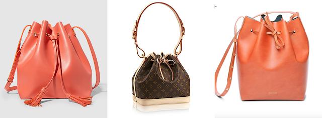 diferentes tipos de bolsos bucket