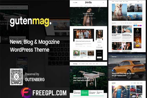 GutenMag – Gutenberg Newspaper Magazine Blog Theme Nulled Free Download
