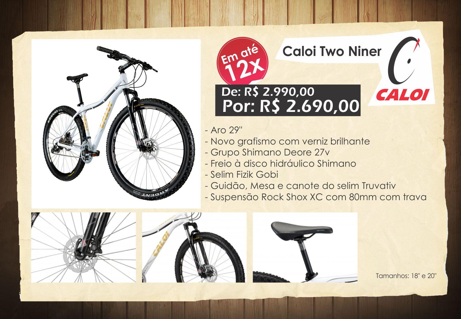 e90835e1f Bike Point SC  Promoção Caloi Two Niner e Elite 2.7