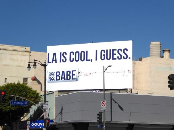 LA is cool I guess Babe Rosé billboard