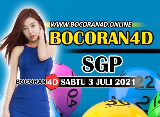Bocoran Togel 4D SGP 3 Juli 2021