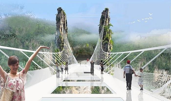 Amazingexplore The World Highest Glass Bridge Zhanjiajie Grand Canyon Hunan