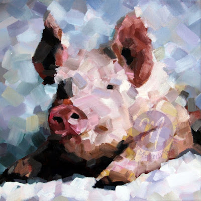 henri-the-pig-oil-painting-by-merrill-weber