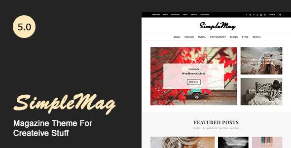 SimpleMag - Magazine WordPress Theme