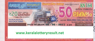 Karunya Plus Lottery KN-165 Results 15-6-2017