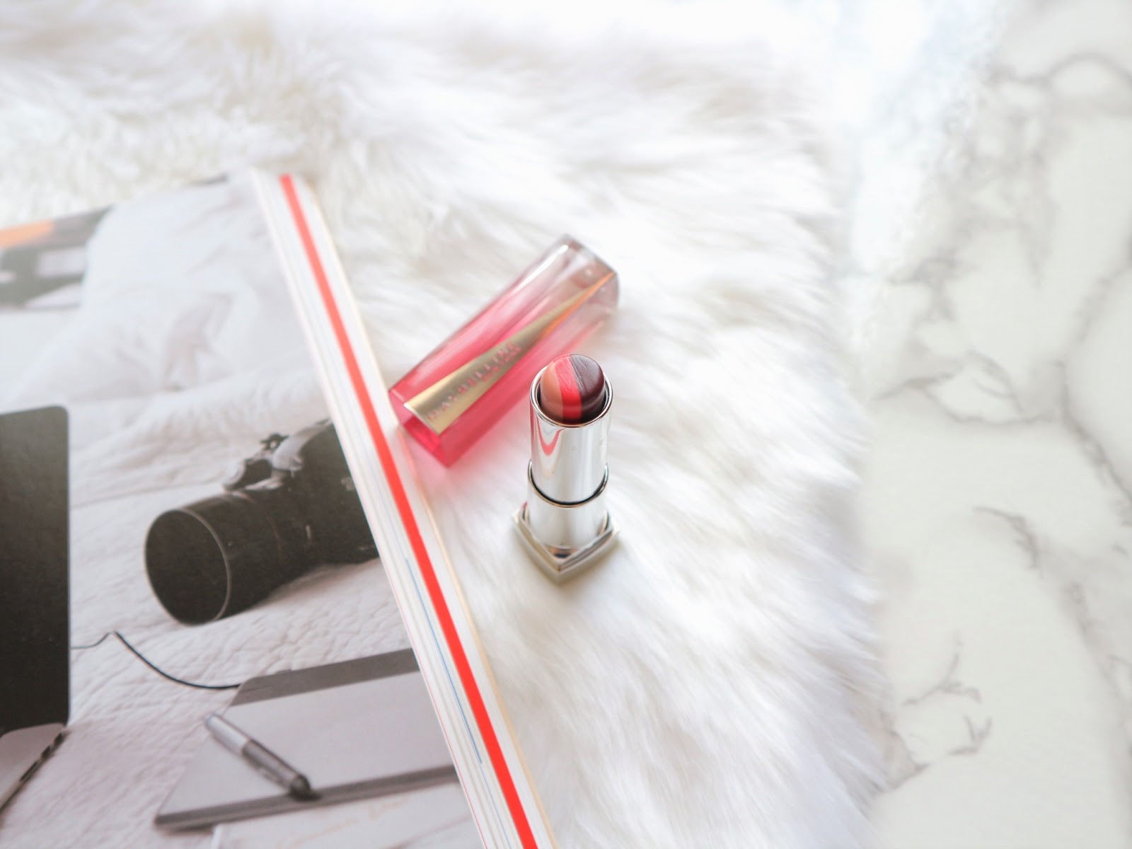 Maybelline RD03 Lipstick Review Swatch