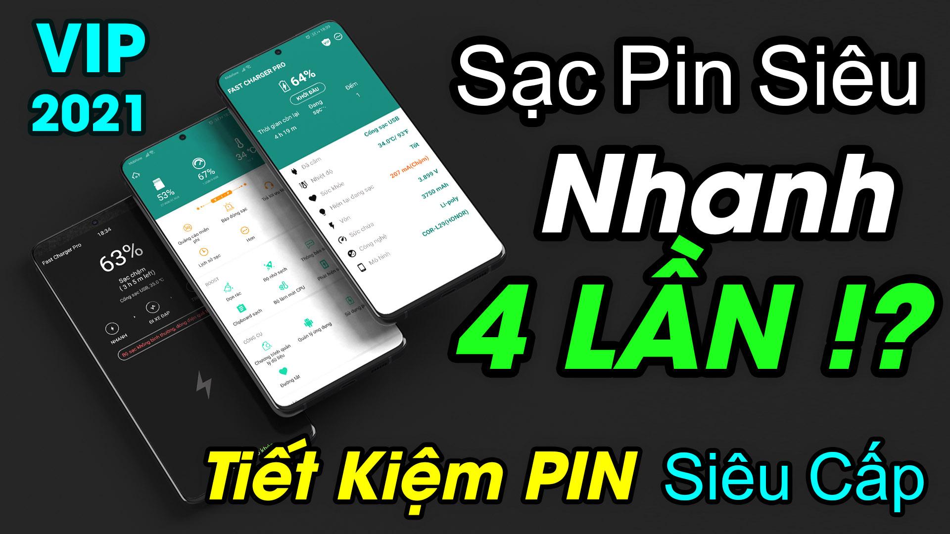 Chia sẻ Ứng dụng tăng tốc độ sạc và tiết kiệm PIN tốt nhất cho điện thoại Android