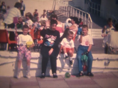 Gottfried family on holiday at Barry Island in 1989