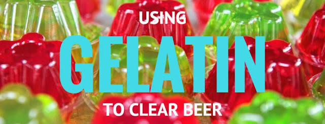 clearing beer with gelatin