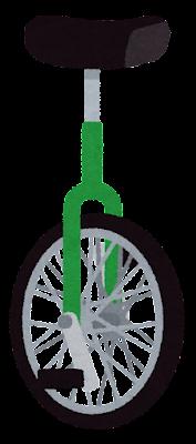 一輪車のイラスト(緑)