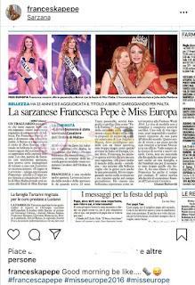 La vera storia di Francesca Pepe e le bugie su Miss Europa