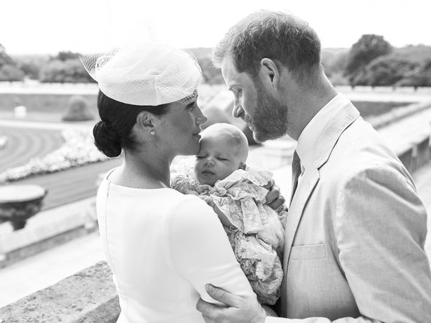 Meghan Markle and Prince Harry Share Baby Archie's christening photos