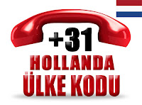 +31 Hollanda ülke telefon kodu